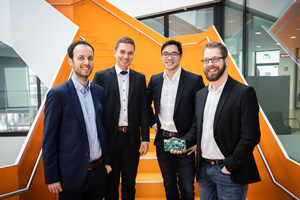 Das Start-Up m-Bee erforscht Batteriespeicher